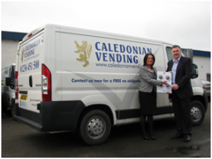 Mark wilson of Neebeans and Emma Richie of Caledonia Vending